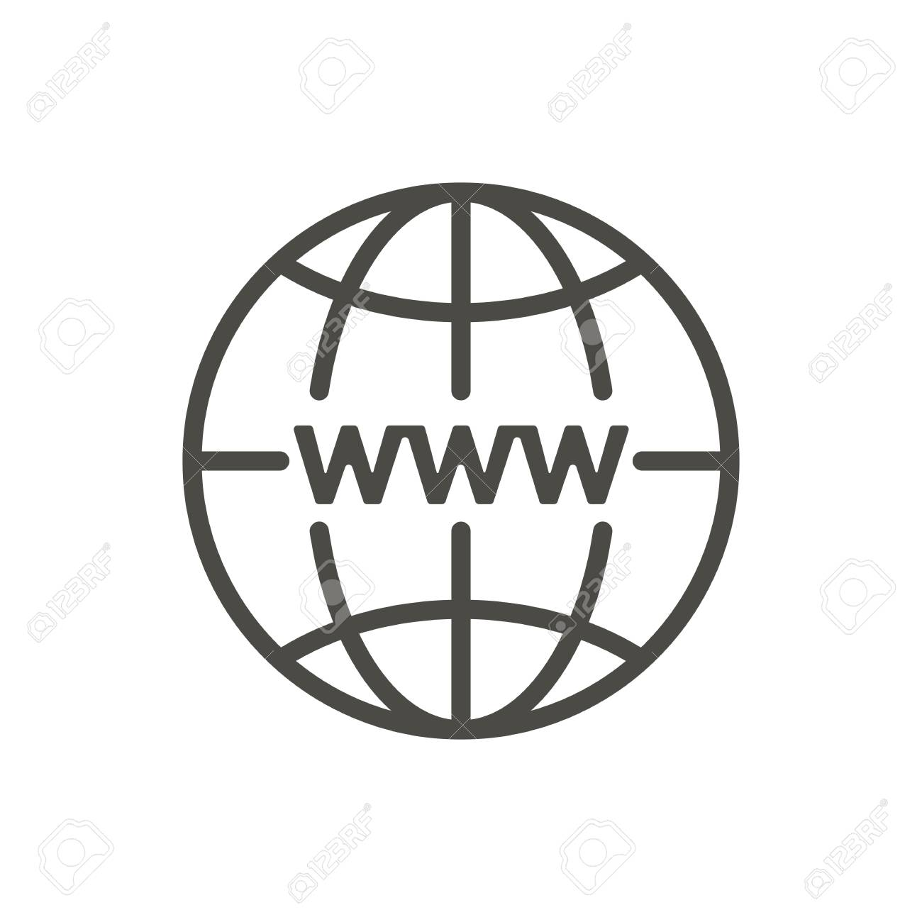 internet icon vector line http website symbol royalty free