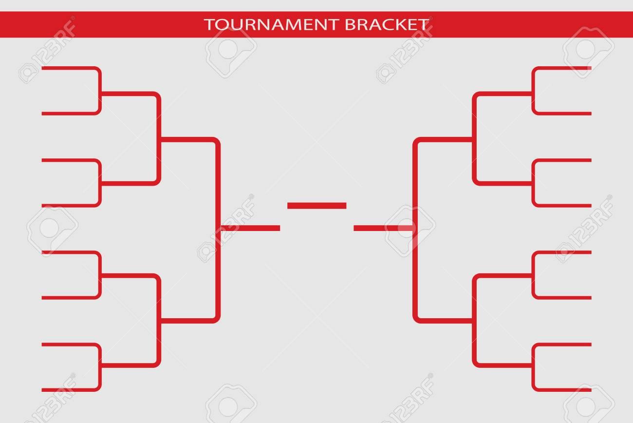 Tournament bracket vector. Championship template. - 98712911