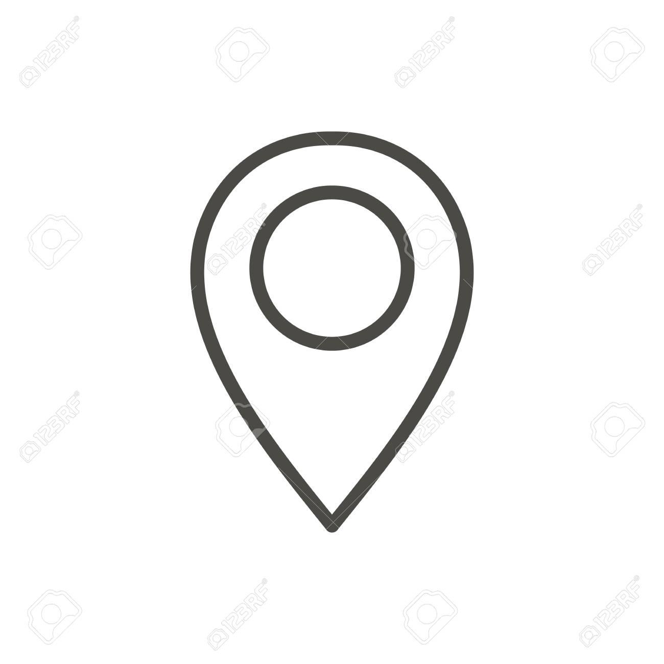 Pin map icon vector. Line location symbol. - 98713690