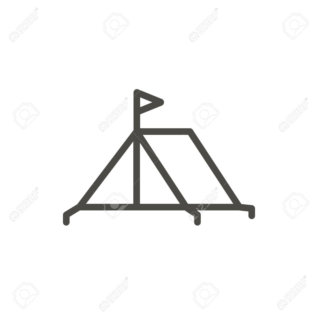 Tent Icon Vector Line Camping Symbol Isolated Trendy Flat Outline Royalty Free Cliparts Vectors And Stock Illustration Image 102156815