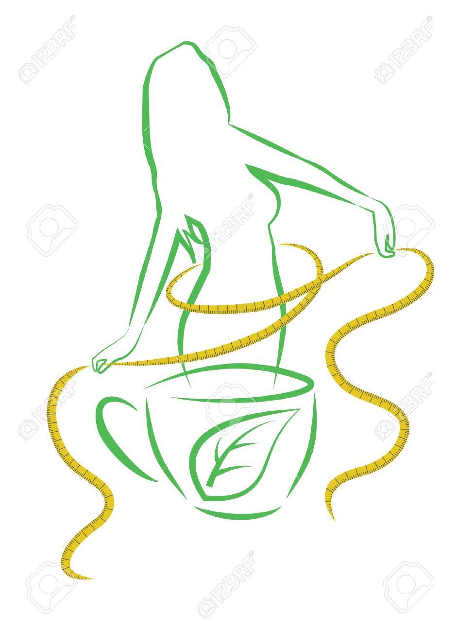 Tea for weight loss Vector illustration - 18540249
