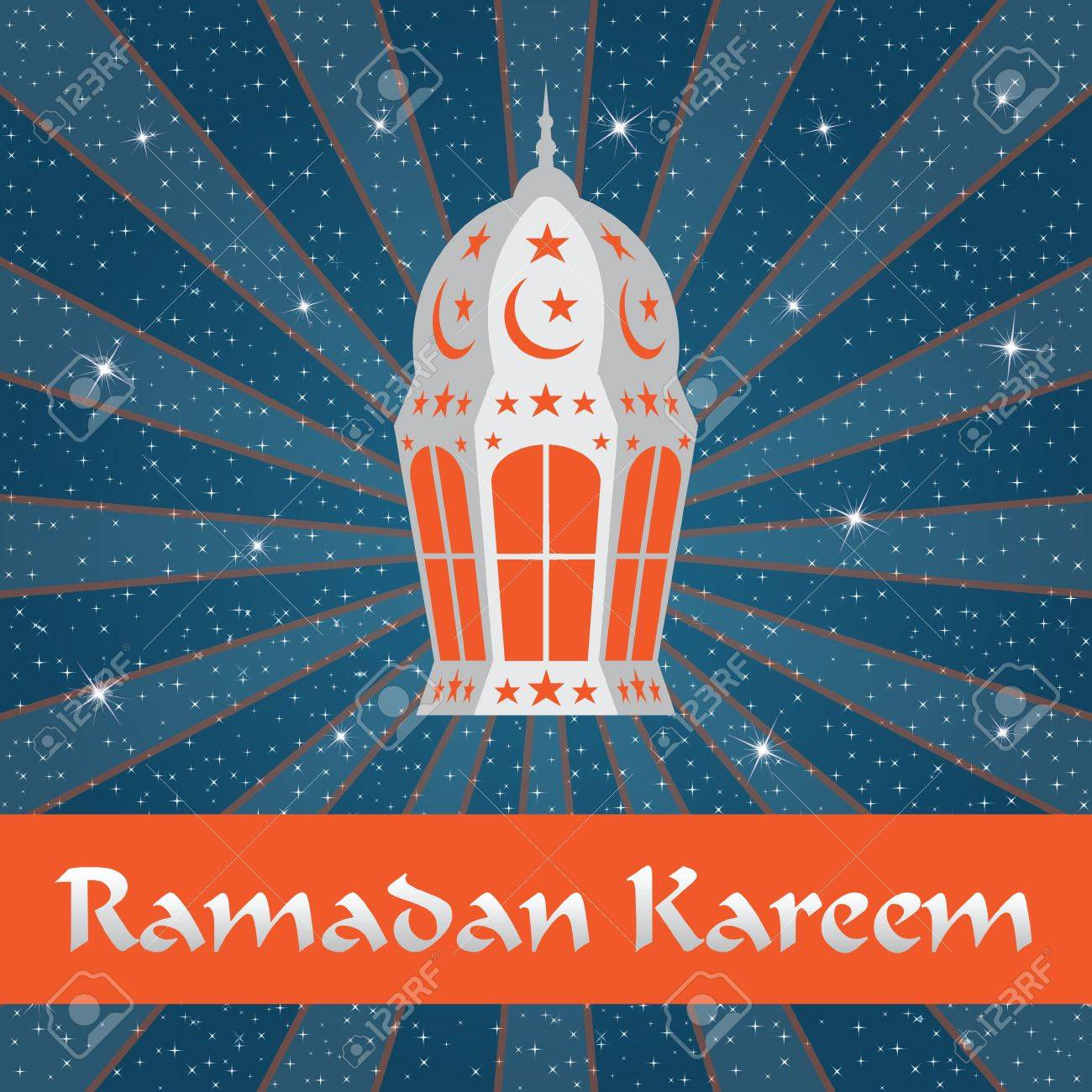 Ramadan Kareem  Greeting card Stock Vector - 19756657