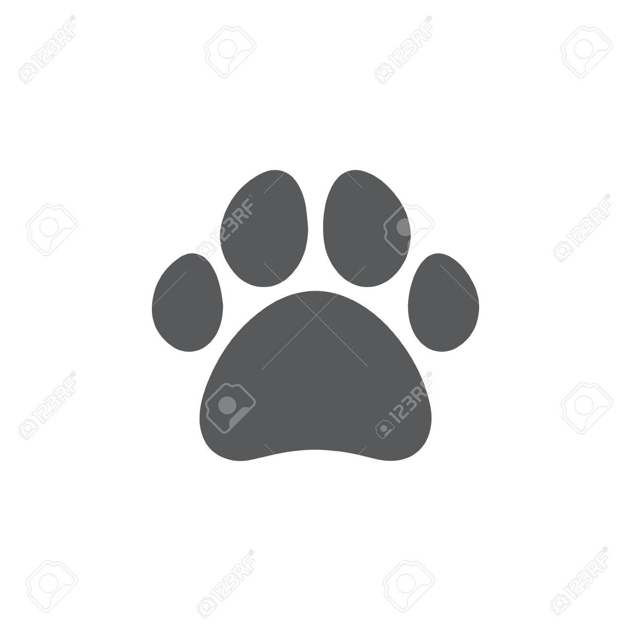 Paw icon on white background - 142547688