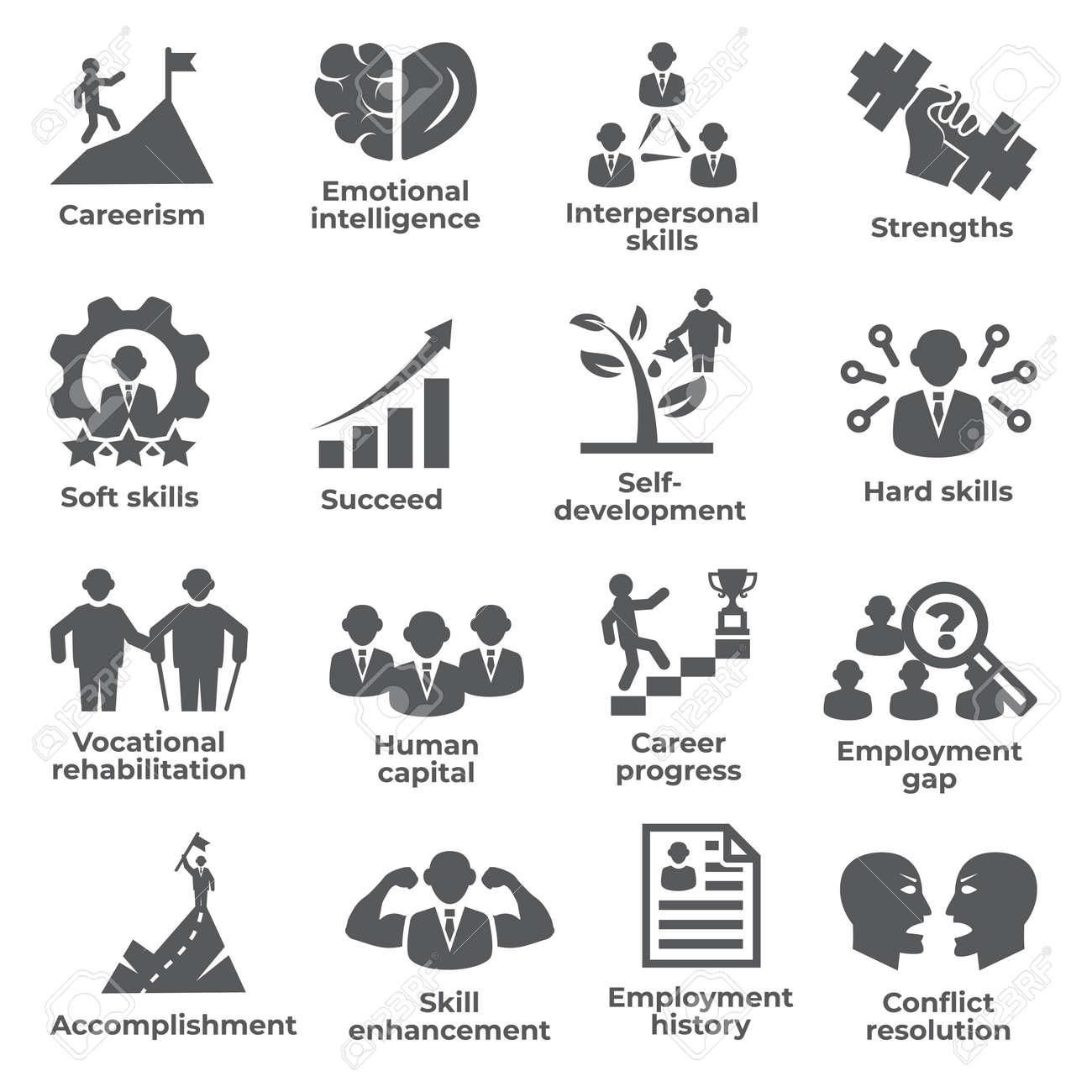 Employment icons set on white - 156883722