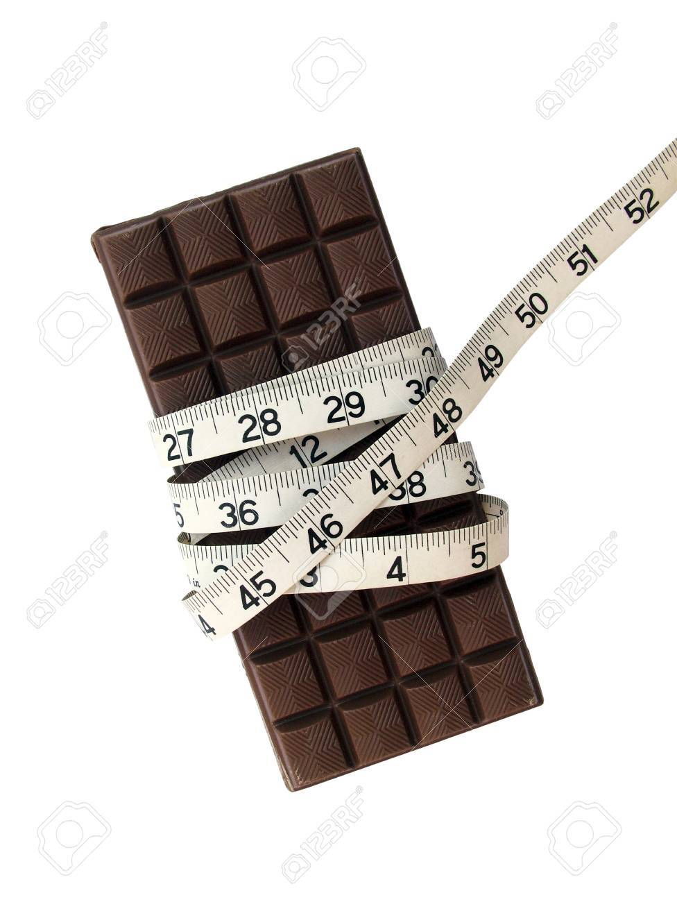 Chocolate And Tape Measure Stock Photo, Picture And Royalty Free ...