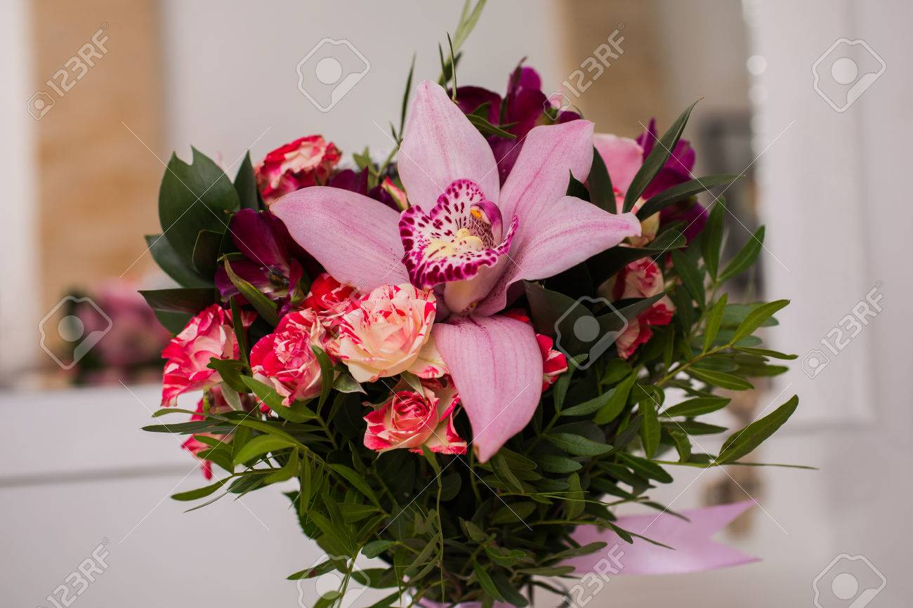 Wedding Flowers, Wedding Bouquet Of Red And Pink Peach Yellow ...
