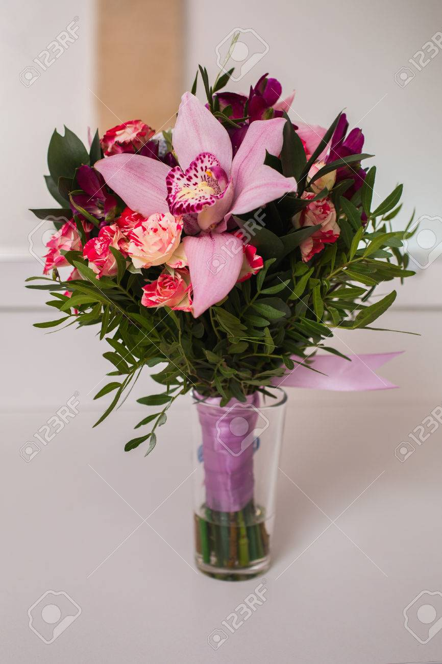 Wedding Flowers Wedding Bouquet Of Red And Pink Peach Yellow