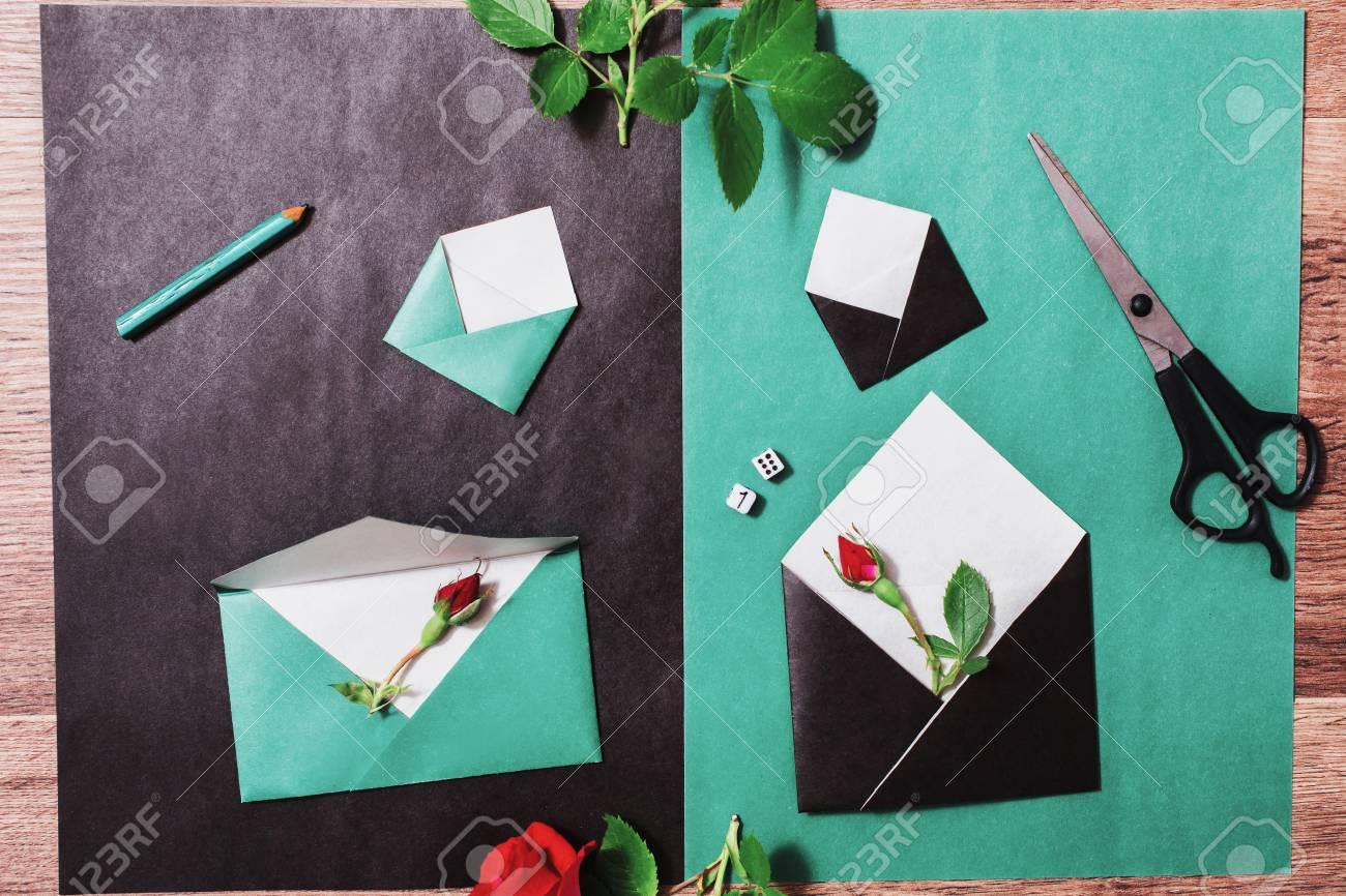 Color Paper Small Colored Envelopes Workplace Designer Romantic