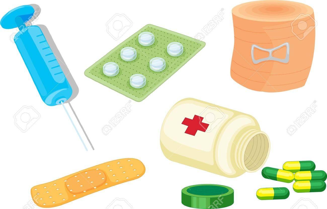 illustration of various objects on white Stock Illustration - 13076744