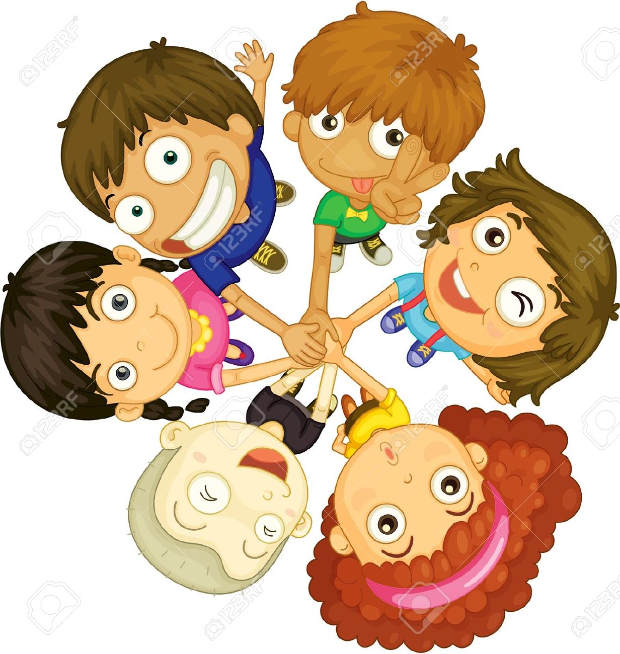 face painting kids illustration of kids faces on white background - Pictures Of Kids Painting