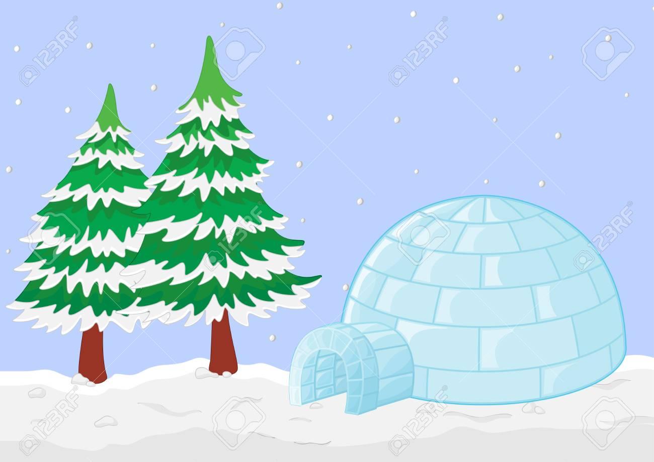 Illustration of a winter scene Stock Photo - 13109784