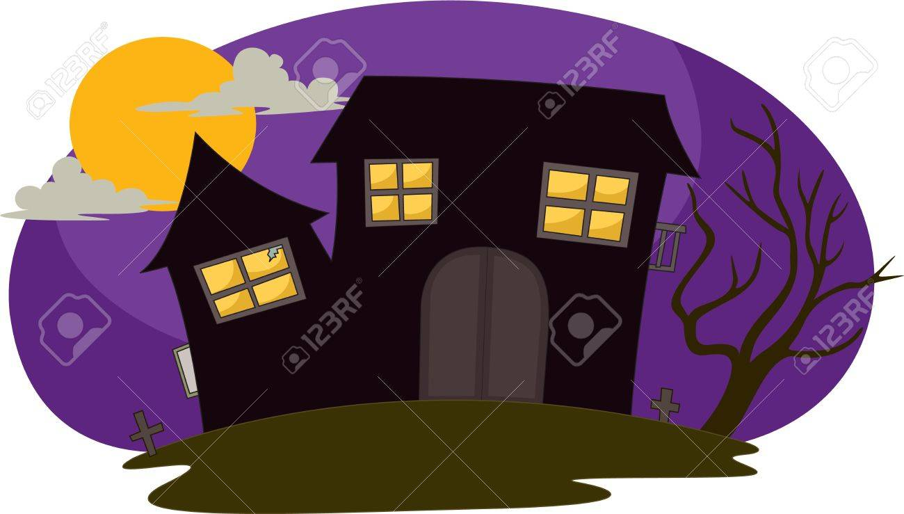 illustration of house in the night Stock Vector - 13120832