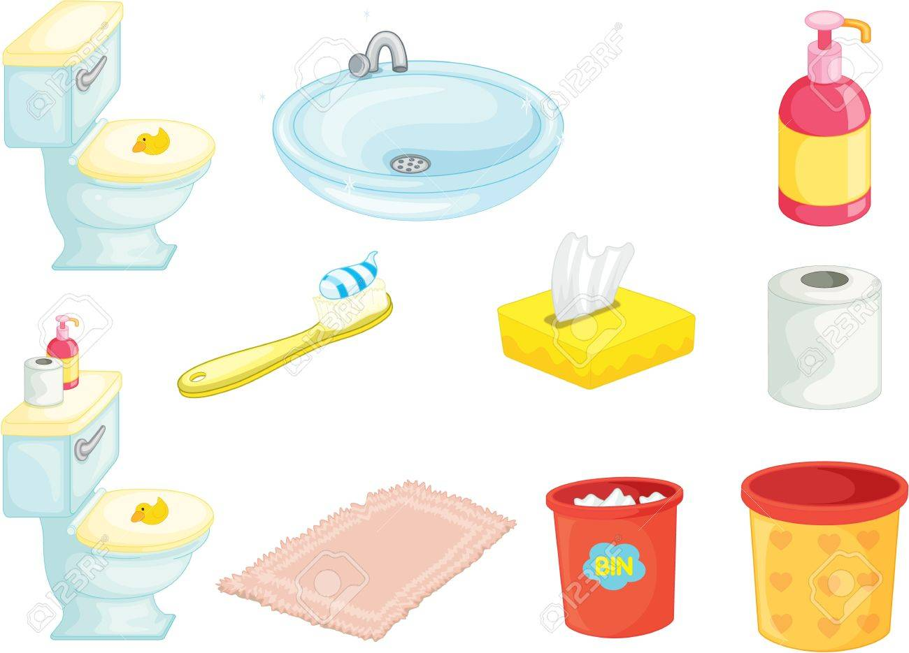 illustration of various objects on white Stock Vector - 13121168