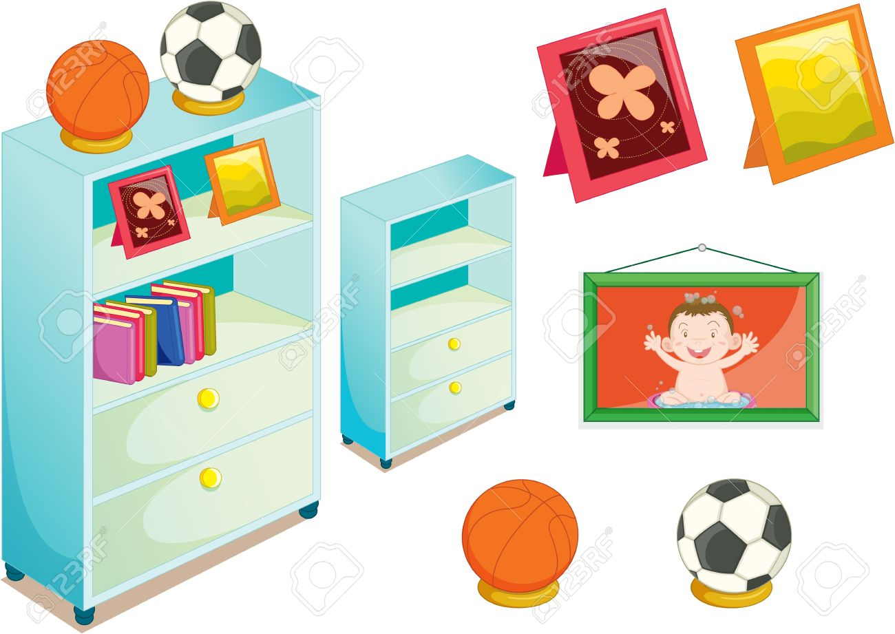 illustration of various objects on white Stock Vector - 13121367
