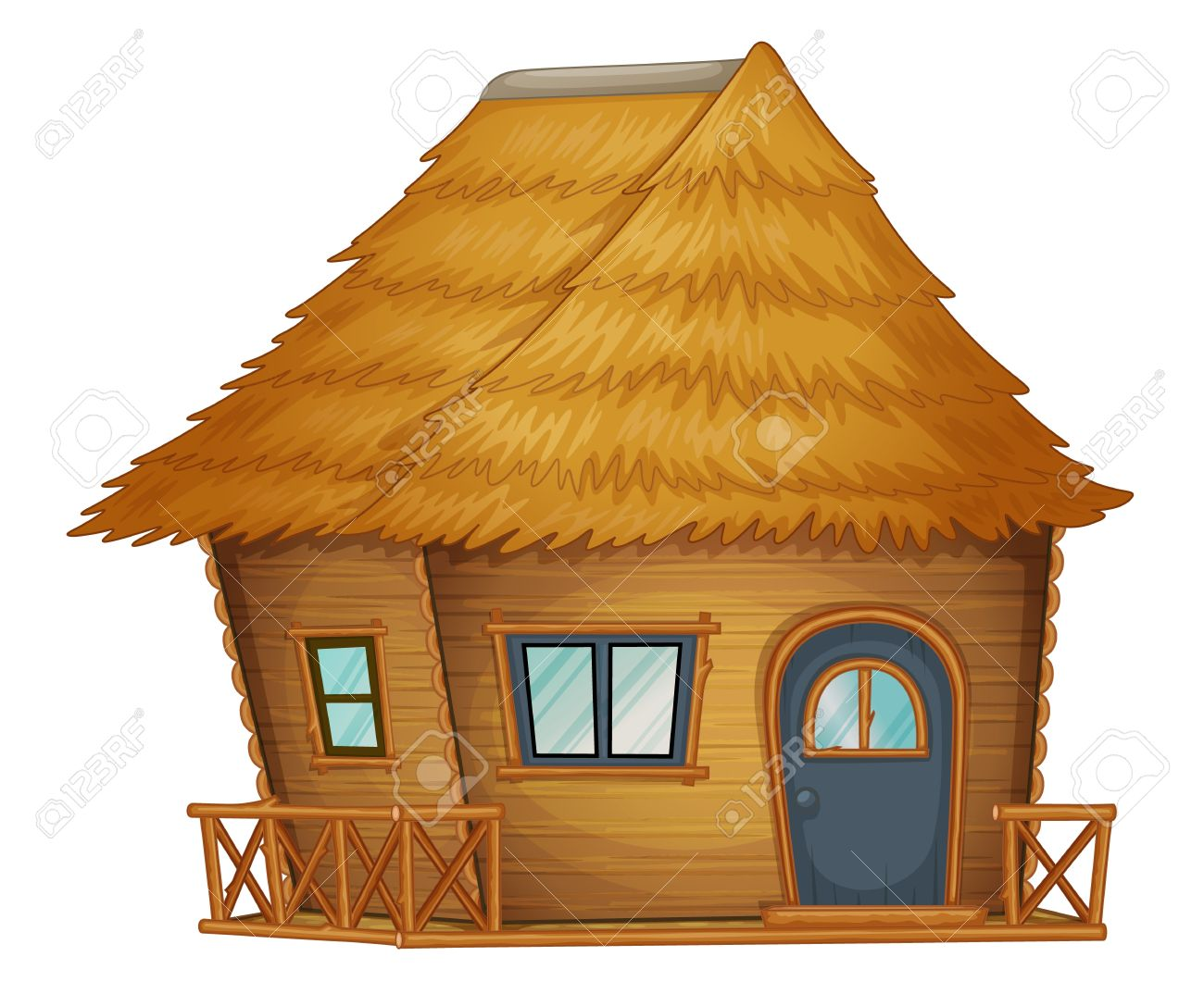 Hut Or Cabin On A White Background Royalty Free Cliparts Vectors