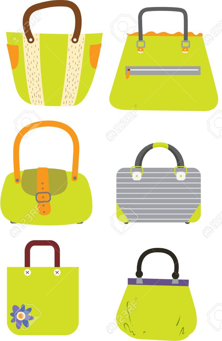 illustration of a bags on white Stock Vector - 13131442
