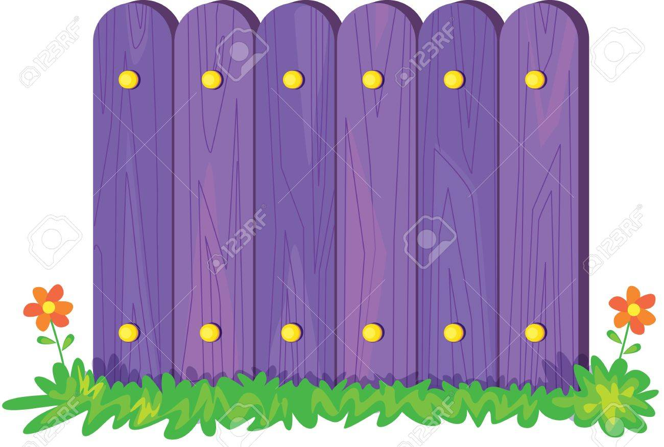 Illustration Of Fence On White Royalty Free Cliparts Vectors And - Cartoon fence clip art