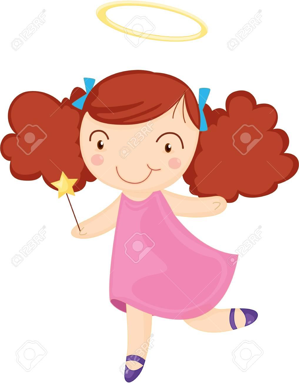 illustration of girl on white Stock Vector - 13158208