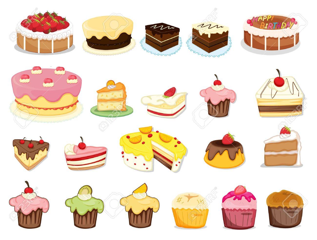 Illustration de gâteaux et de desserts