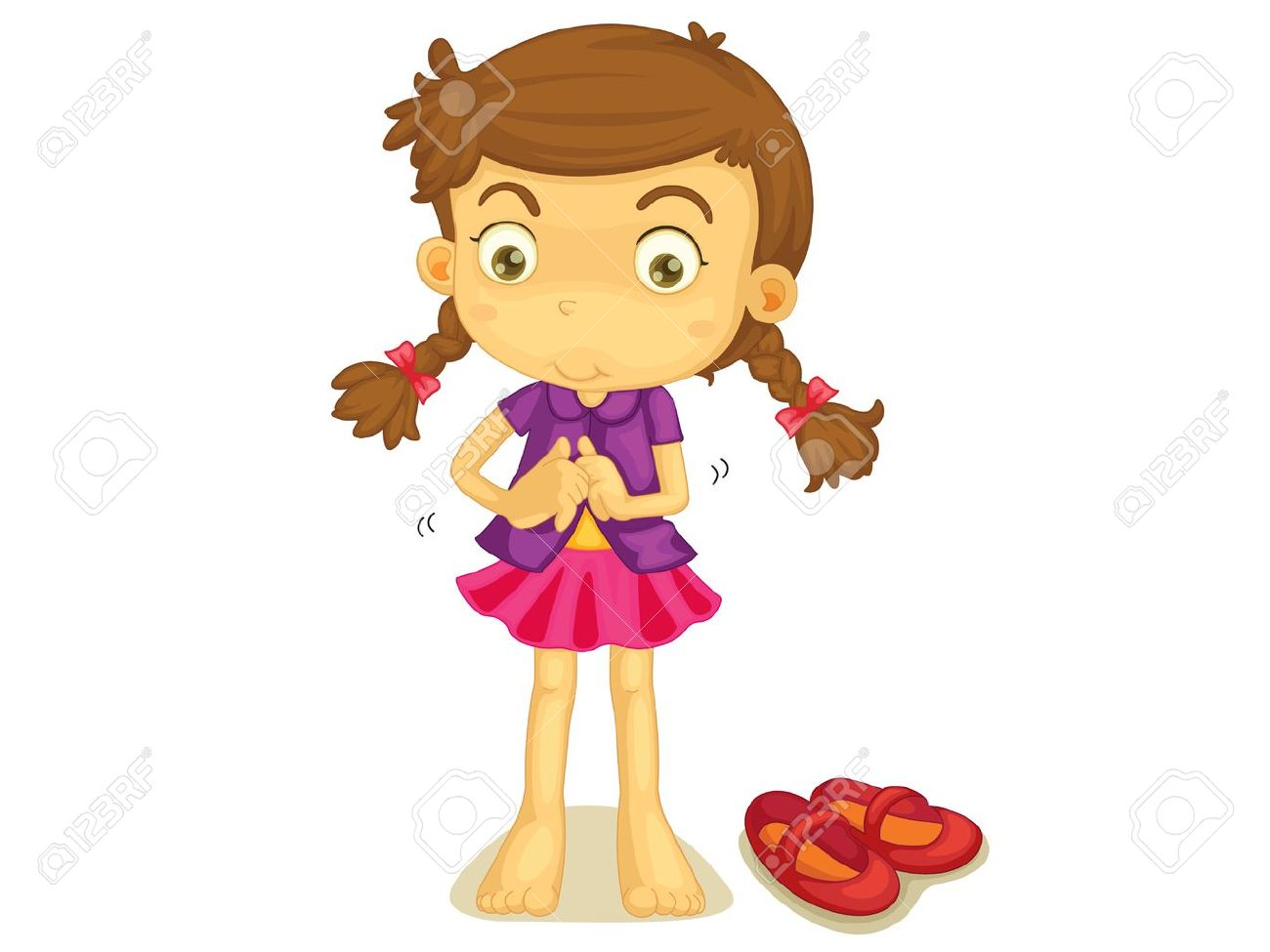 illustration of a girl getting dressed royalty free cliparts rh 123rf com free clipart getting dressed free clipart getting dressed
