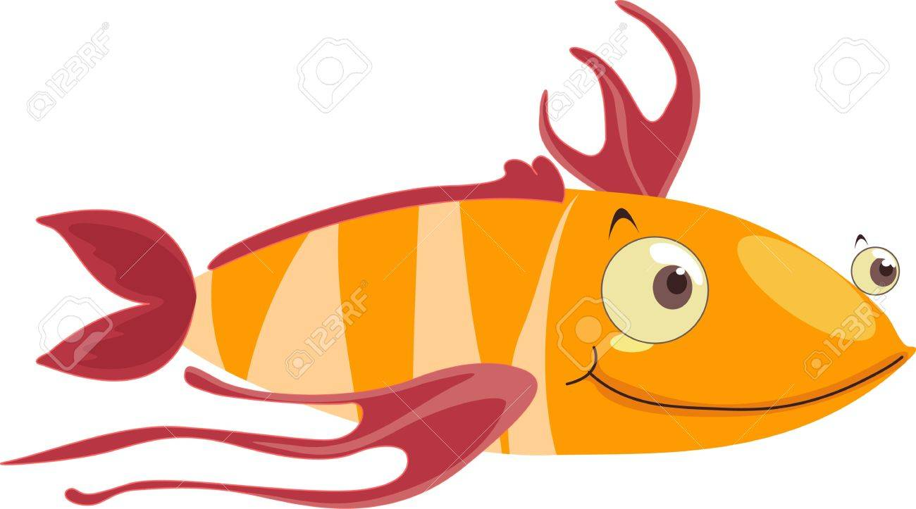 Fish with stringy fins Stock Vector - 13206228