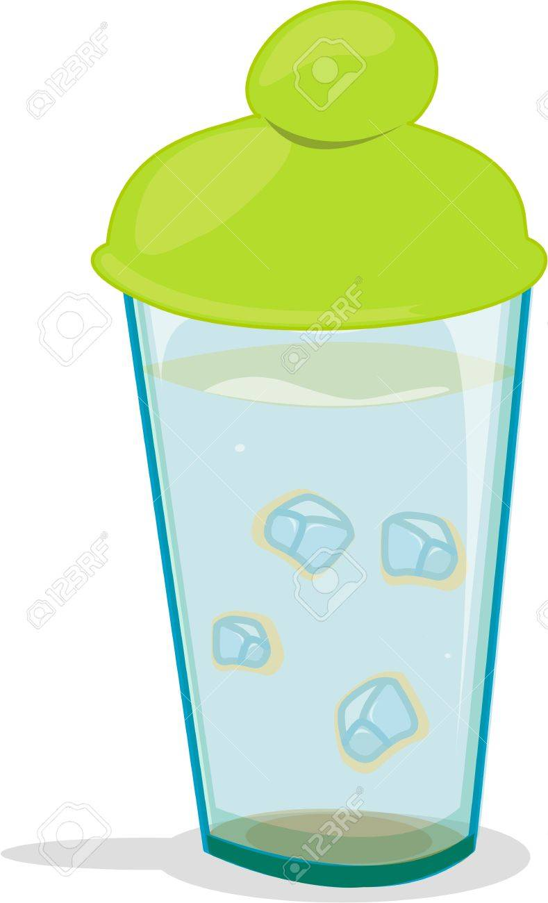 Glass with lid containing mysterious liquid Stock Vector - 13206613