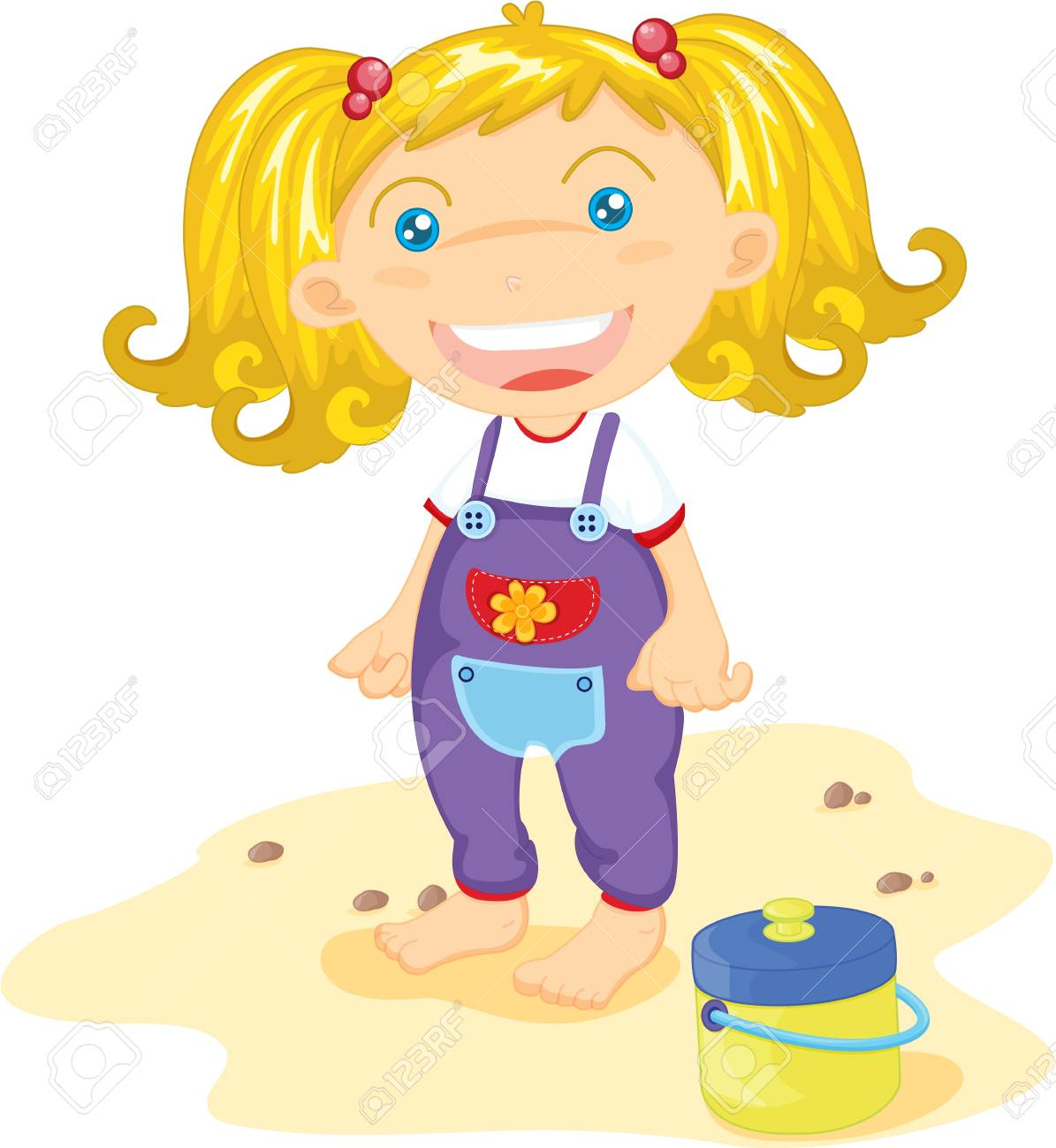 Tiny-tot standing by a cooler Stock Vector - 13215359