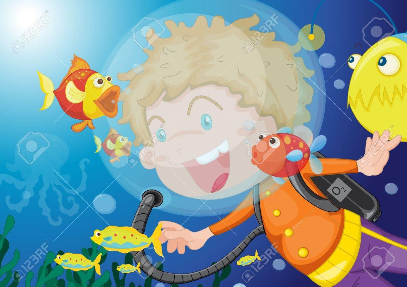 illustration of swimming girl Stock Vector - 13215756