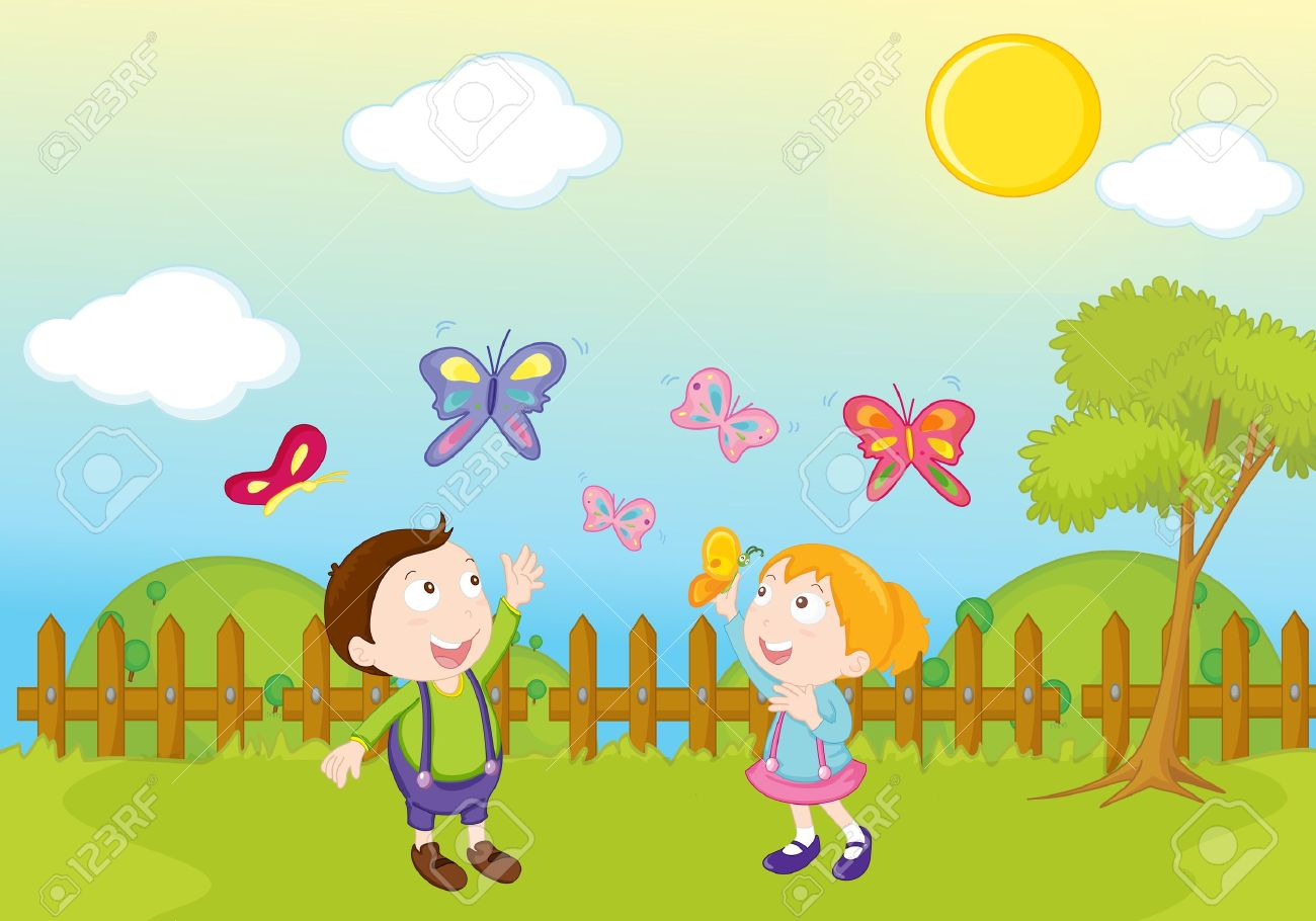 garden park illustration scene stock photo picture and royalty free