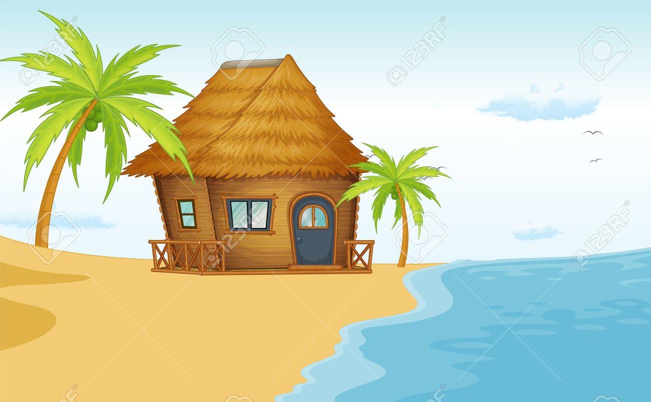 Summer Beach Scene Clipart | Info