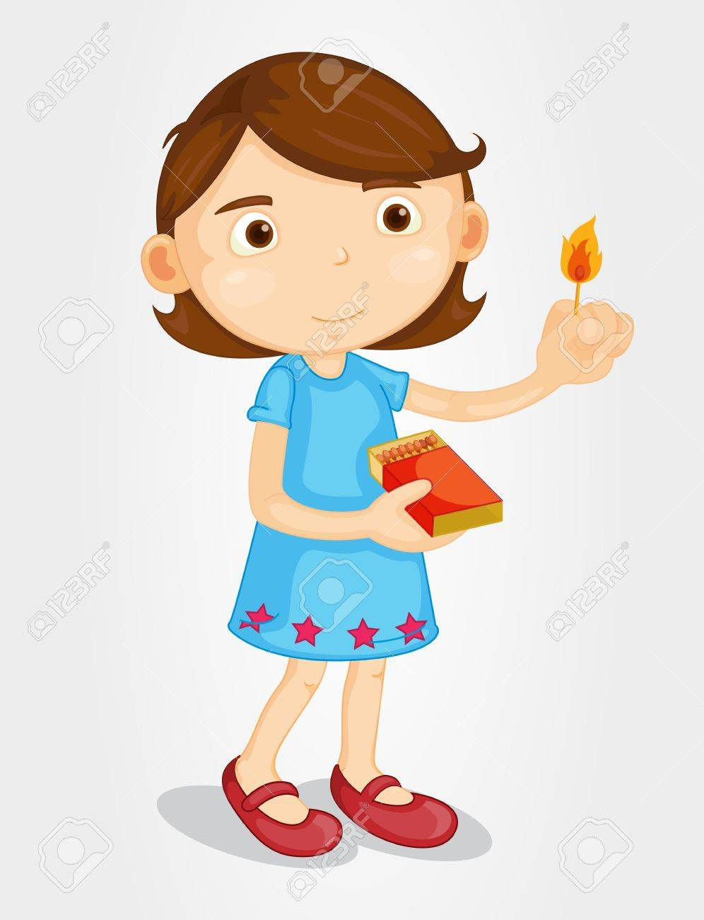 Illustration of a girl with matches Stock Vector - 13233373