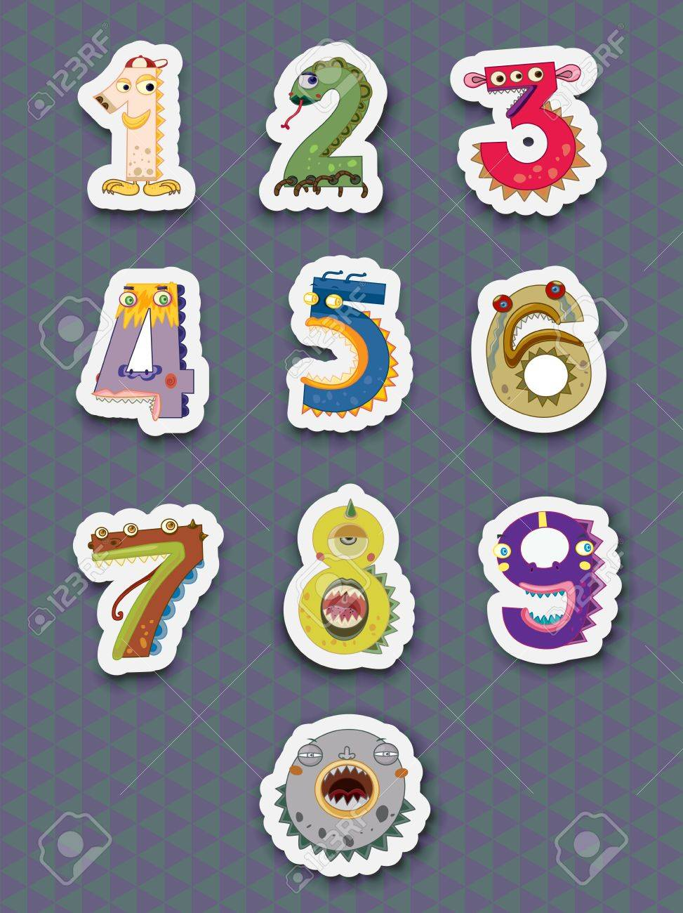 Illustration of number stickers on white Stock Vector - 13233494