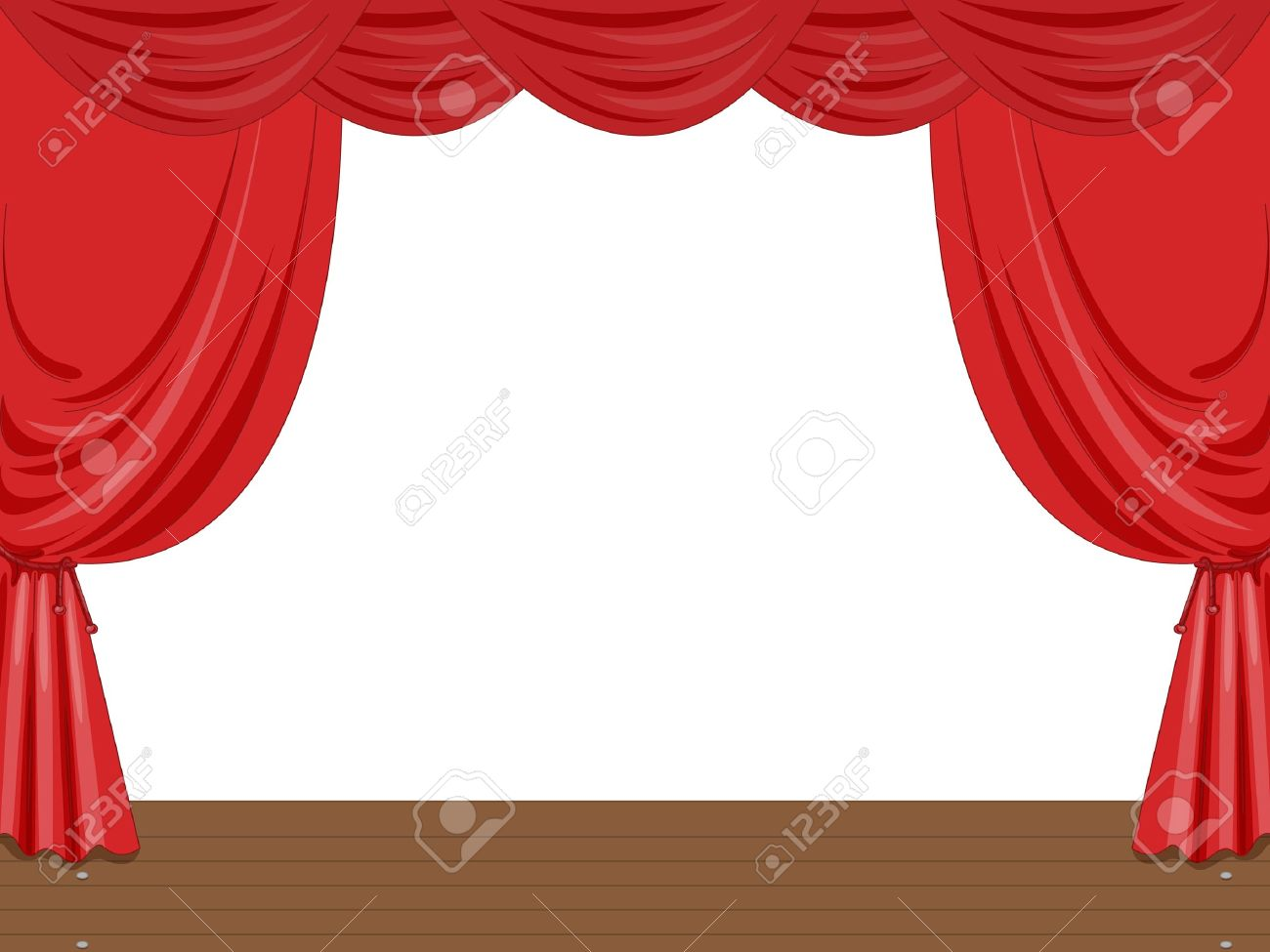 Empty stage illustration with curtains Stock Vector - 13233374