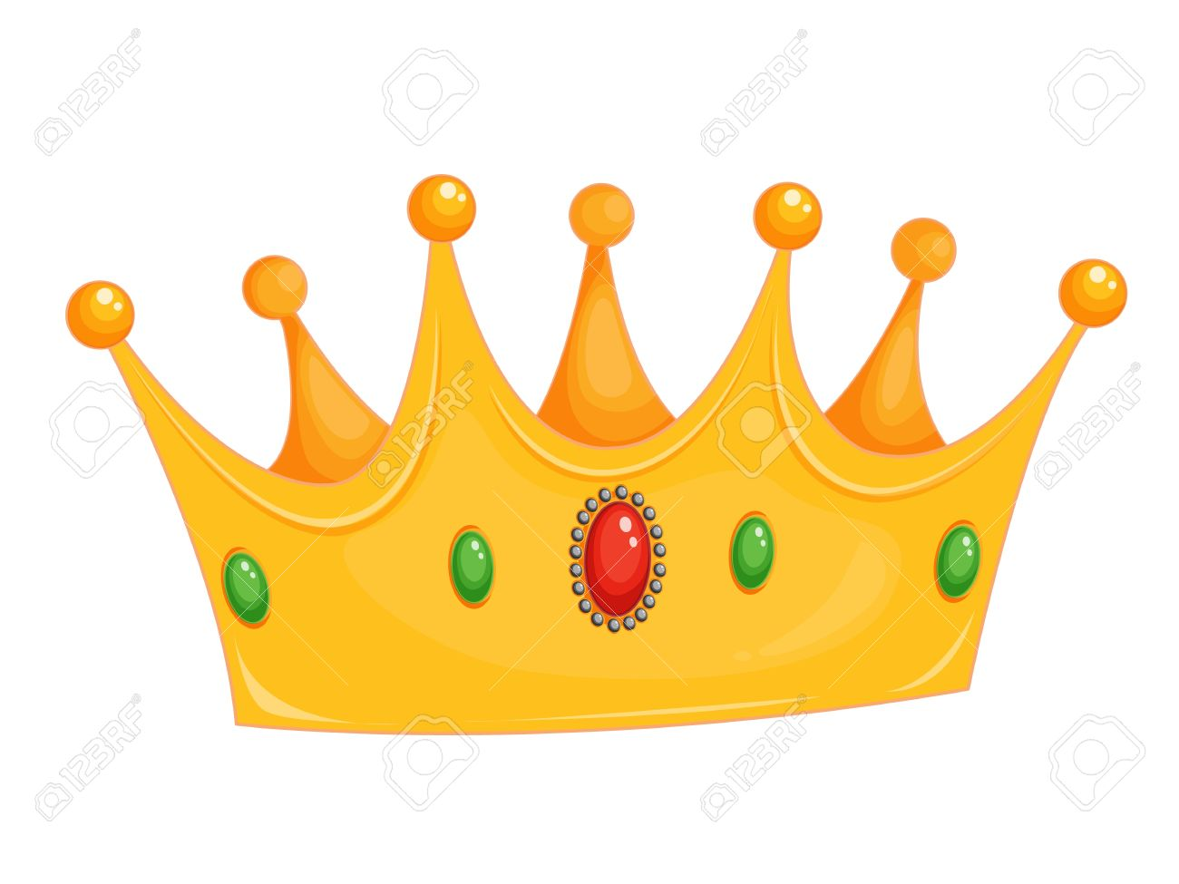 illustration of a crown on white royalty free cliparts vectors and rh 123rf com cartoon crown outline cartoon crown images
