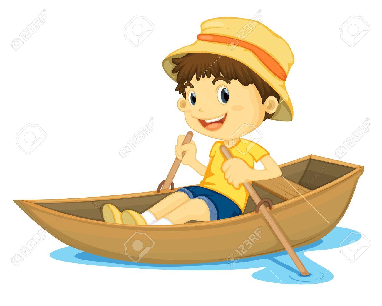 Row Boat Illustration Rowing Boat Illustration of