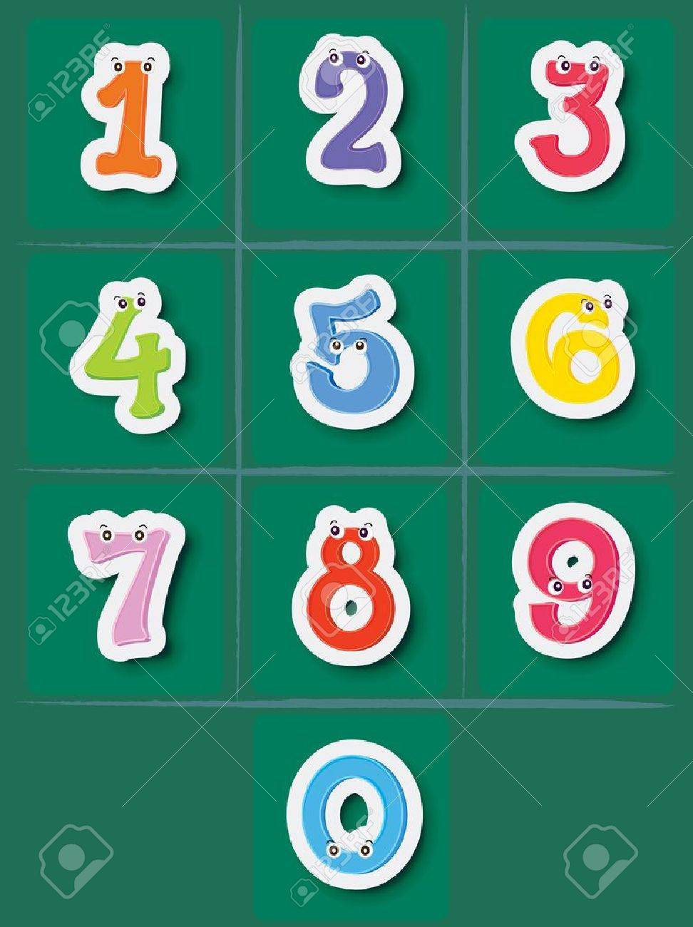 Illustration of a set of numbers from 0 to 10 Stock Vector - 13249392