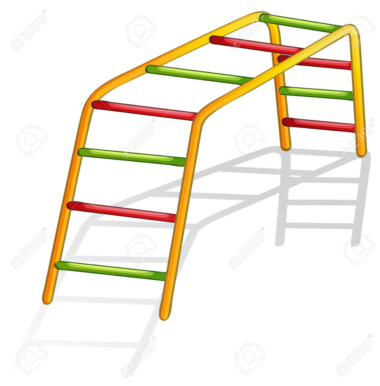 Isolated illustration of play equipment - monkey bars Stock Vector - 13268554