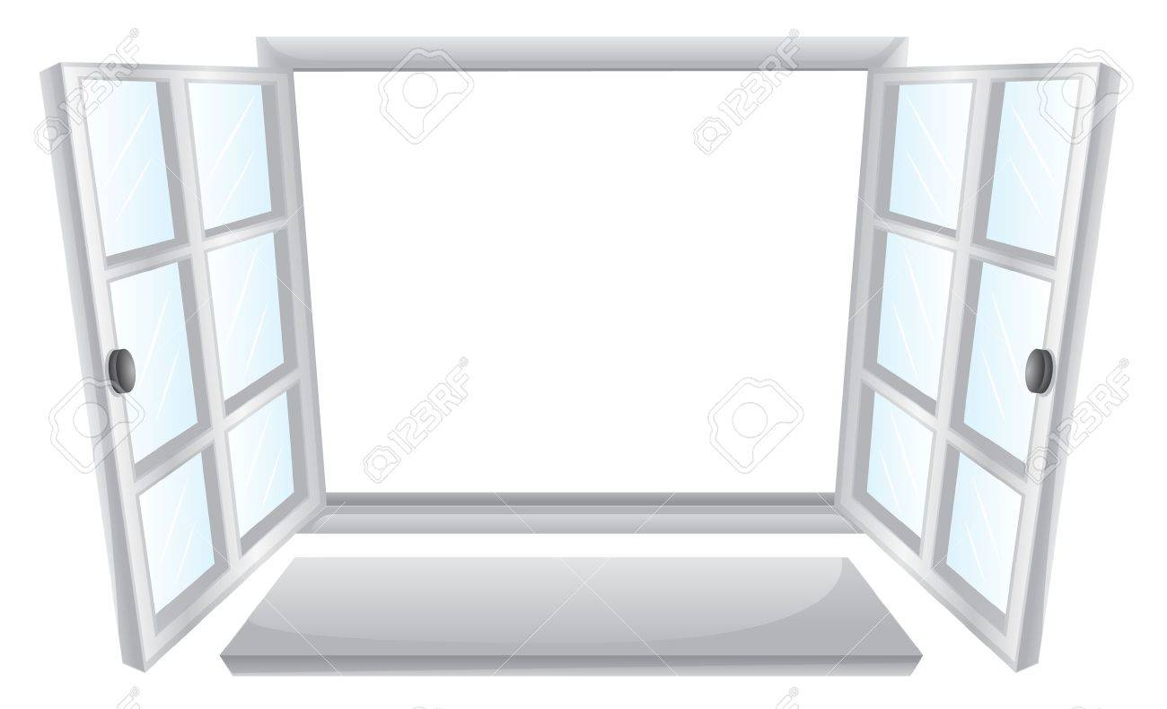 Illustration Of Double Open Windows Royalty Free Cliparts, Vectors ...