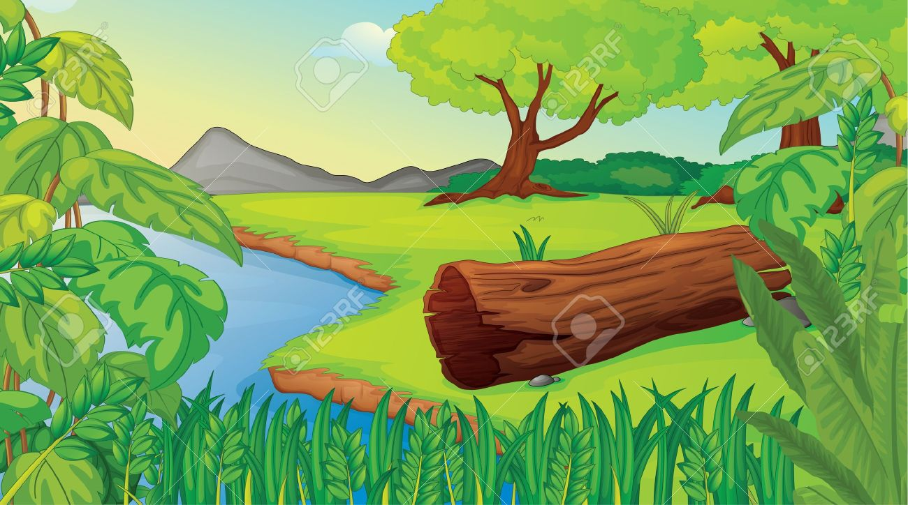 Illustration of wilderness scene Stock Vector - 13268632
