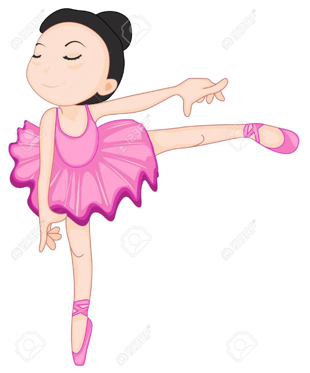 illustration of a ballerina pose on white royalty free cliparts