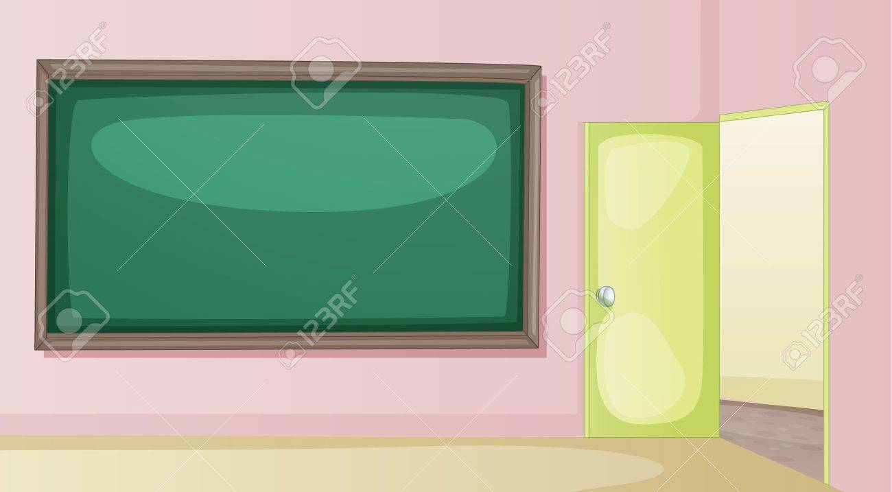 Cartoon classroom door - Illustration Of An Empty Classroom Stock Vector Classroom Door Cartoon Jpg 1300x717 Cartoon Classroom Door
