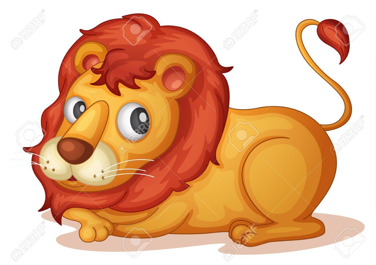 Illustration of isolated lion laying down Stock Vector - 13300488