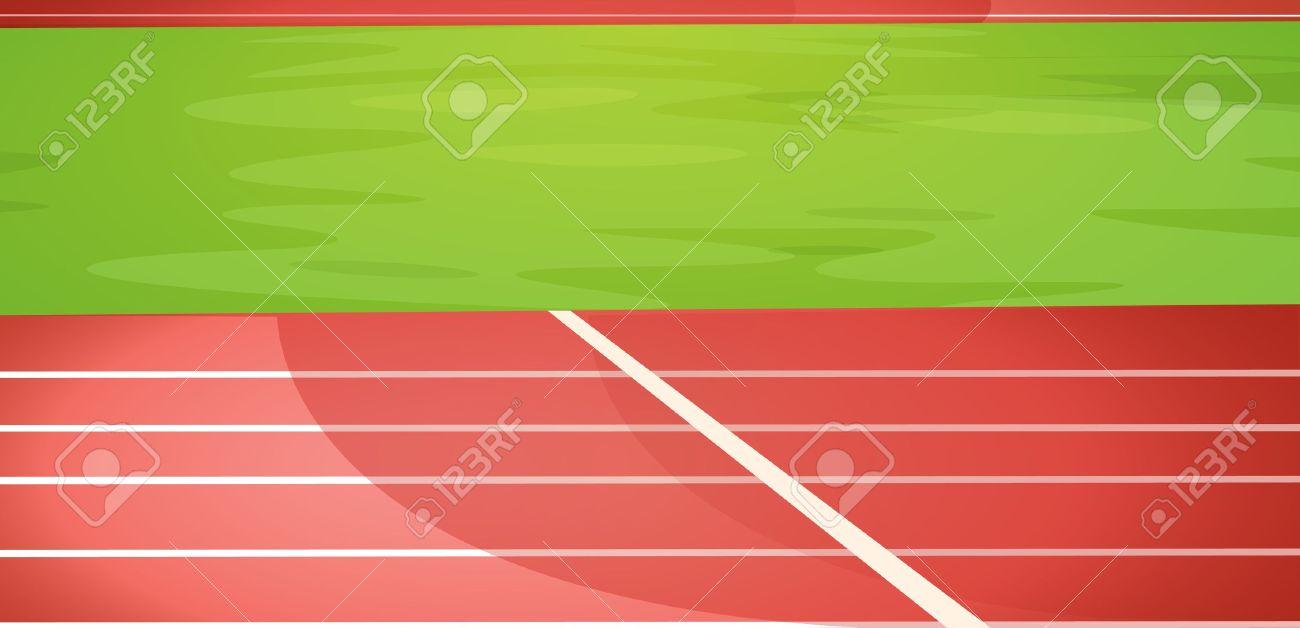 Illustration of a running track Stock Vector - 13300465