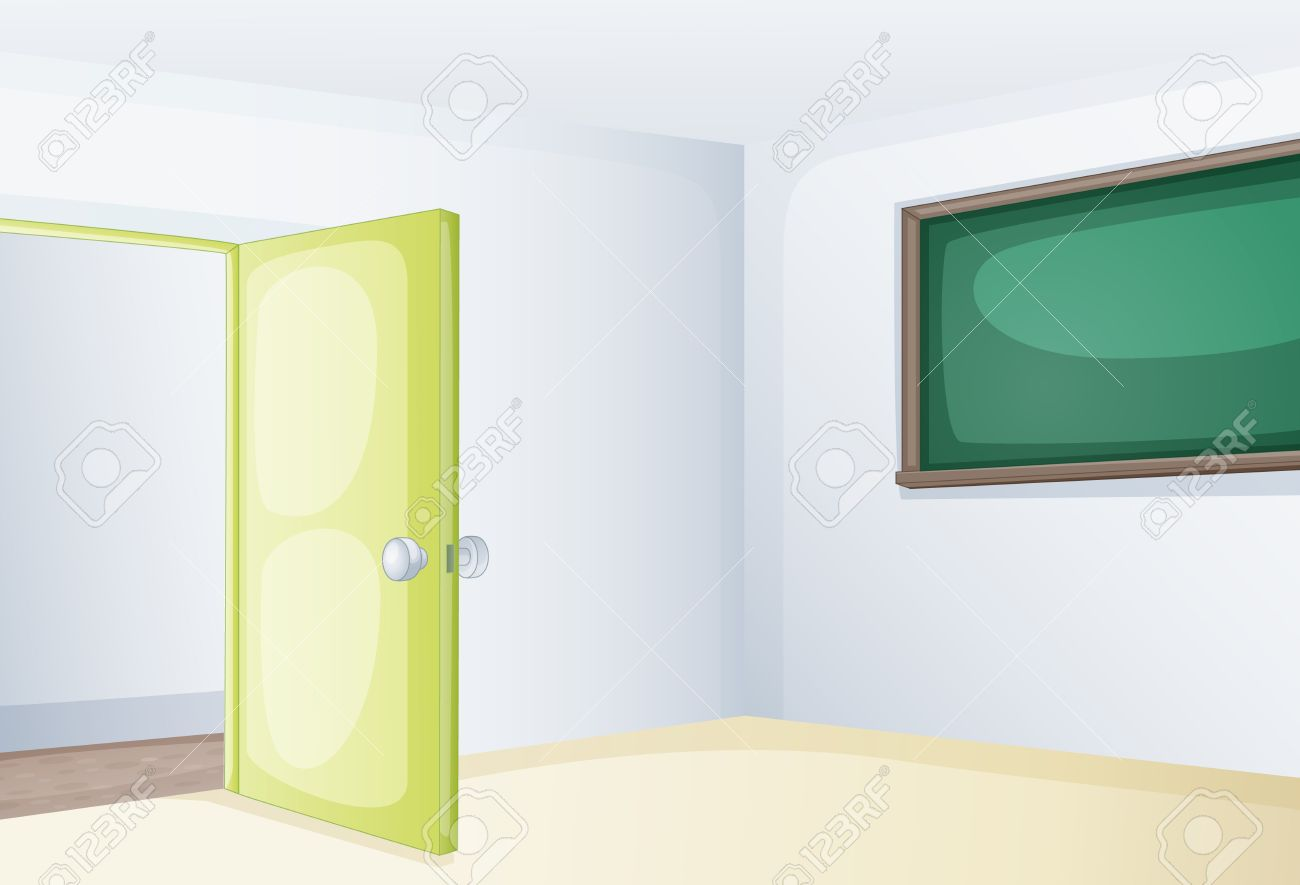 Cartoon classroom door - Illustration Of An Empoty Classroom Stock Vector 13300474