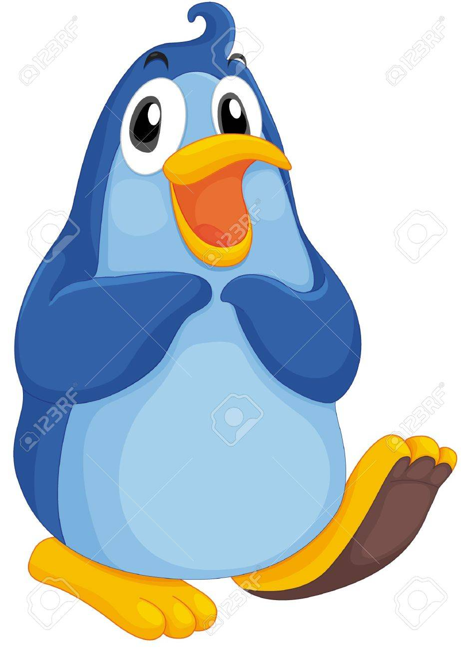 Cute penguin on a white background Stock Vector - 13376649