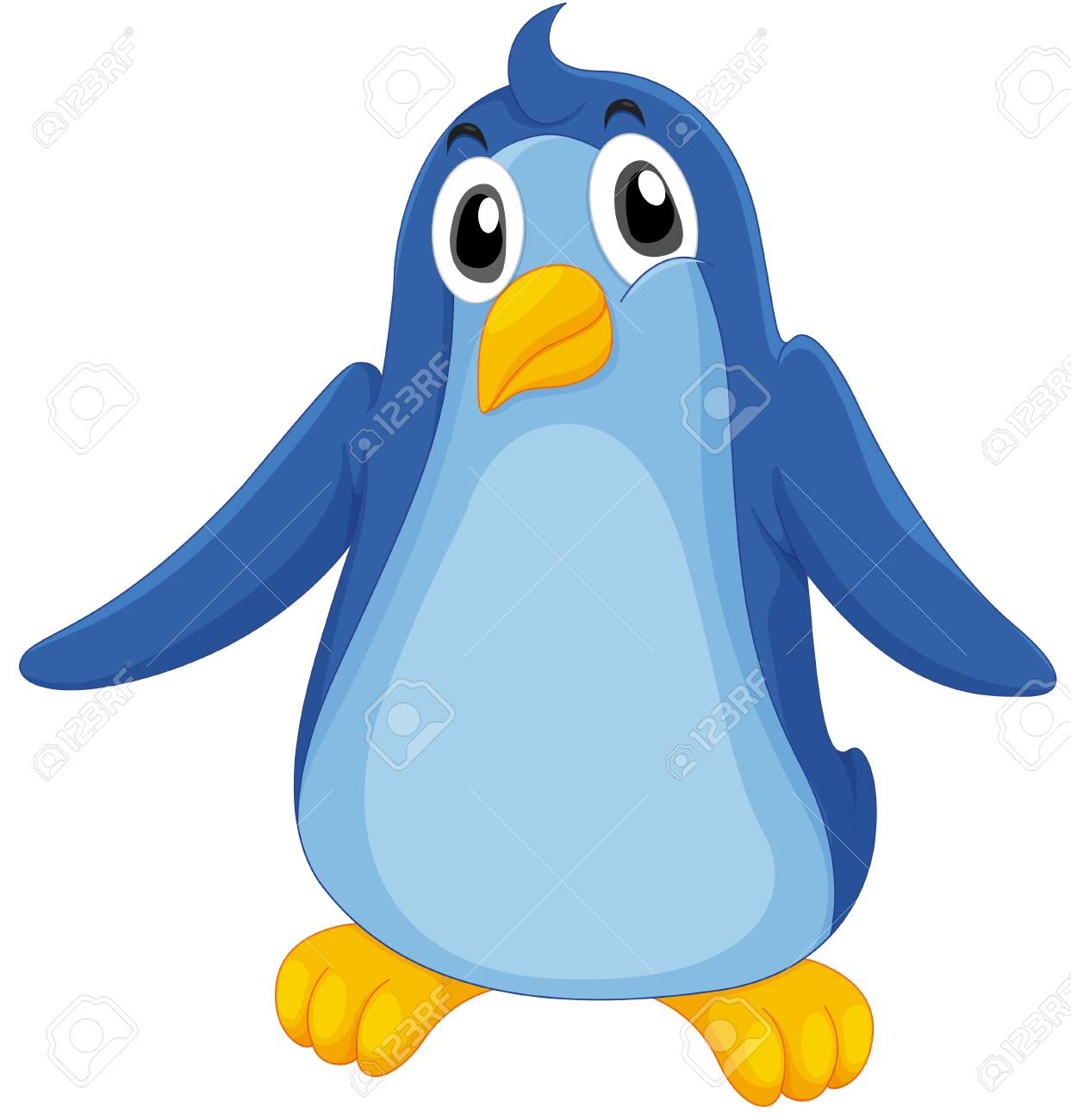 Illustration of a comical penguin Stock Vector - 13376637