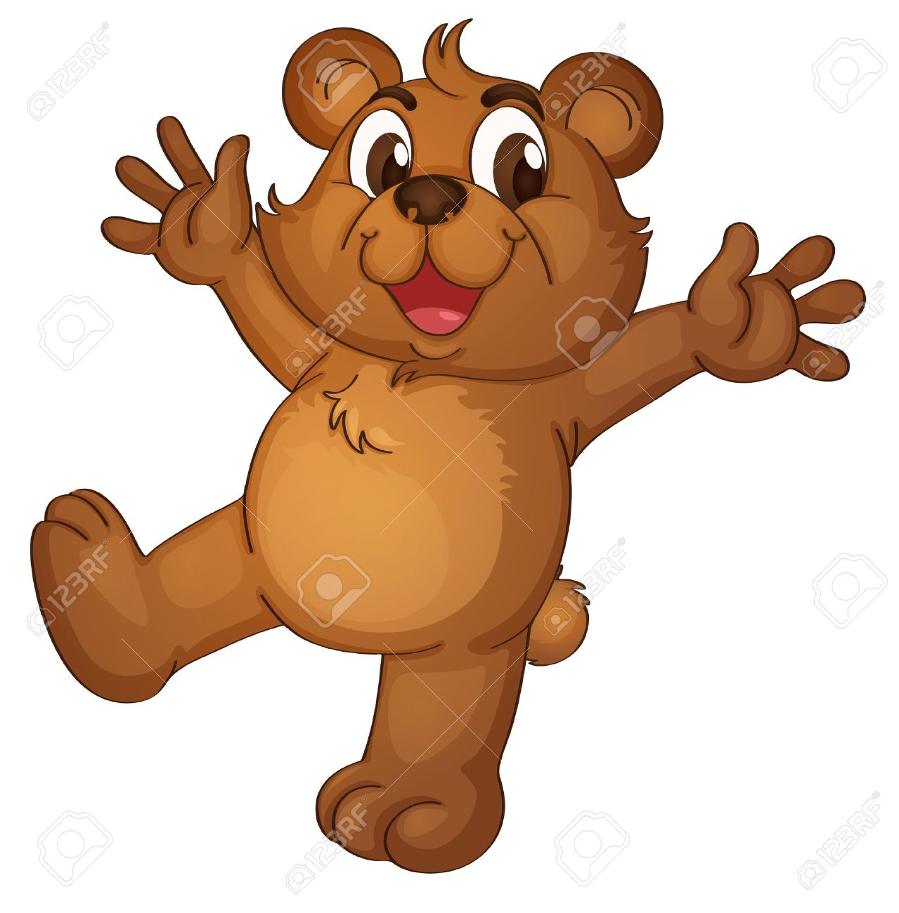 Teddy bear acting on a white background Stock Vector - 13376890