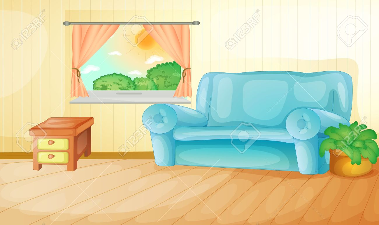 All rooms in the house rooms of homes vector art image illustration - Interior Of A House Living Room Stock Vector 13376889