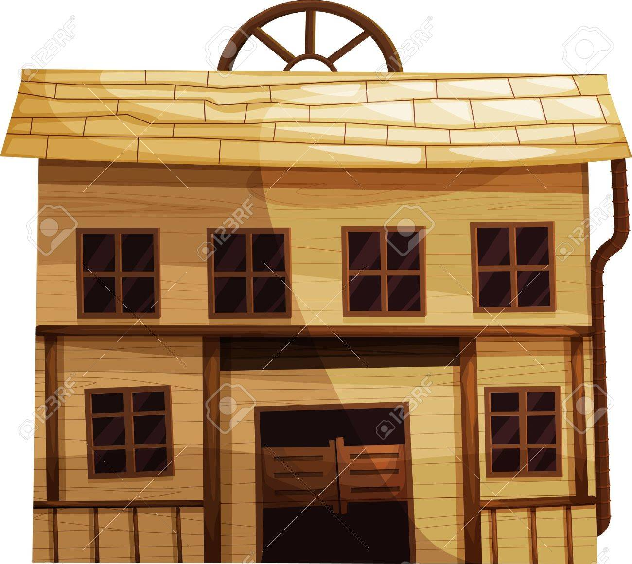 Illustration of an isolated building from the Wild West Stock Vector - 13424860