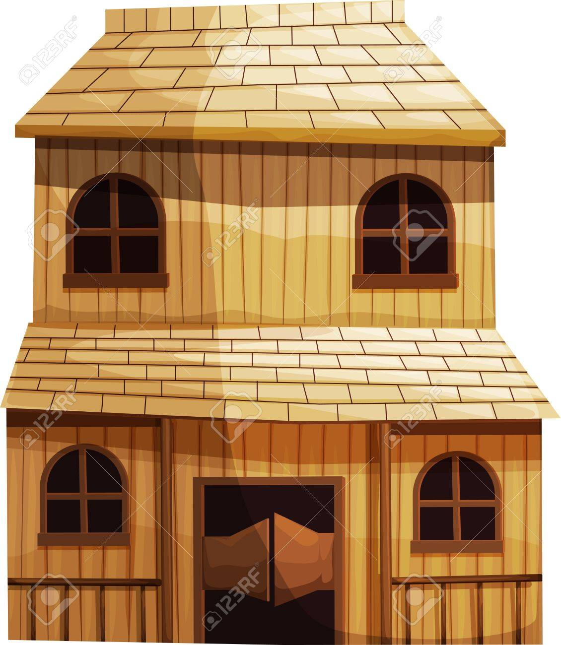 Old wooden door clipart - Old Wooden Door Illustration Of An Isolated Building From The Wild West Illustration